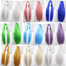 Multicolor 100 cm colour 1 m long straight hair female Cosplay anime universal wig Coser fake wool collar for a horse head post