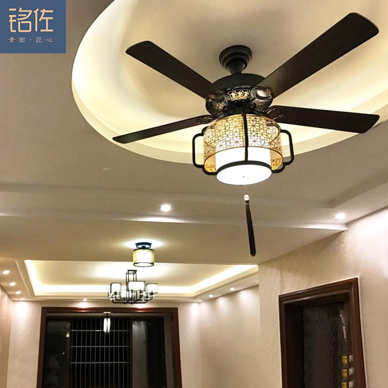 美式餐廳風扇燈具中式客廳歐式吊燈 簡約家用遙控電風扇吊扇燈