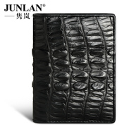 Chun LAN genuine crocodile leather men black counter genuine handmade leather card wallet for 20 percent men short