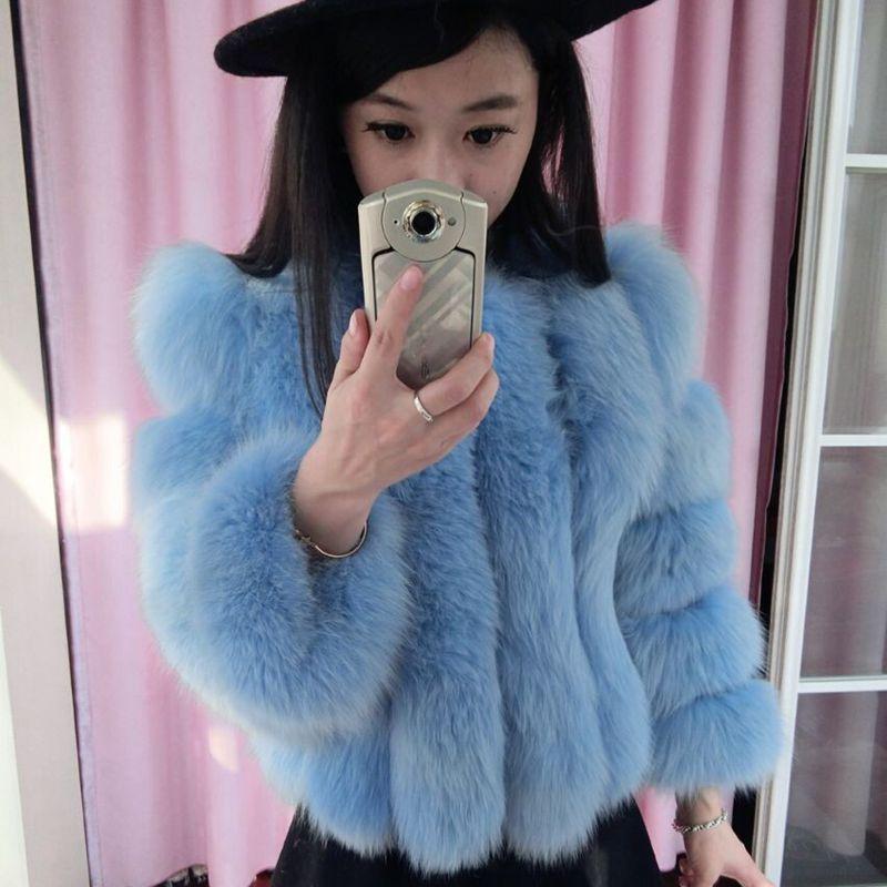 High-End новые меха 2015 лисий мех пальто женщин лисий мех длинные распродажа скидки