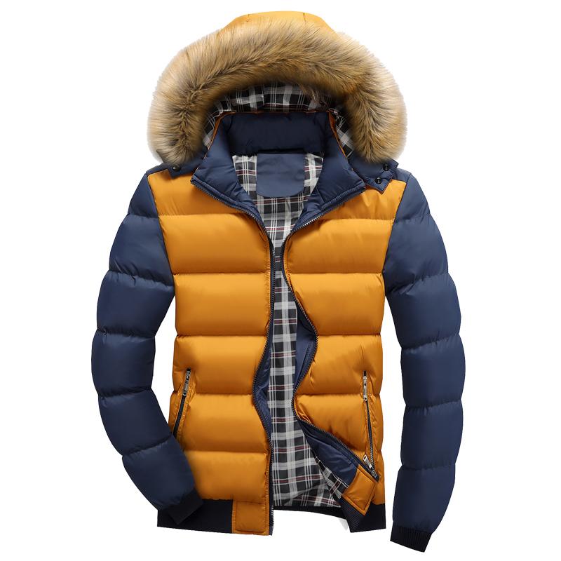 к 2015 году зимний сезон мужчин холодные теплое вниз пальто Мужская проложенный молодости с капюшоном шерсти пальто куртки мужчины