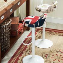 铁艺吧台椅升降椅现代简约旋转酒吧椅高脚凳收银椅子靠背凳子家用