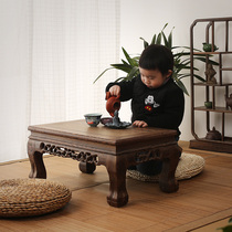 Chicken winged Wood Kang table kang several floating window table mahogany solid wood bed on balcony small table tea table tatami coffee table