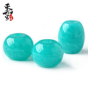 Family of sea ice types Amazonite pendant Passepartout barrel bead Crystal pendant necklace fashion jewelry