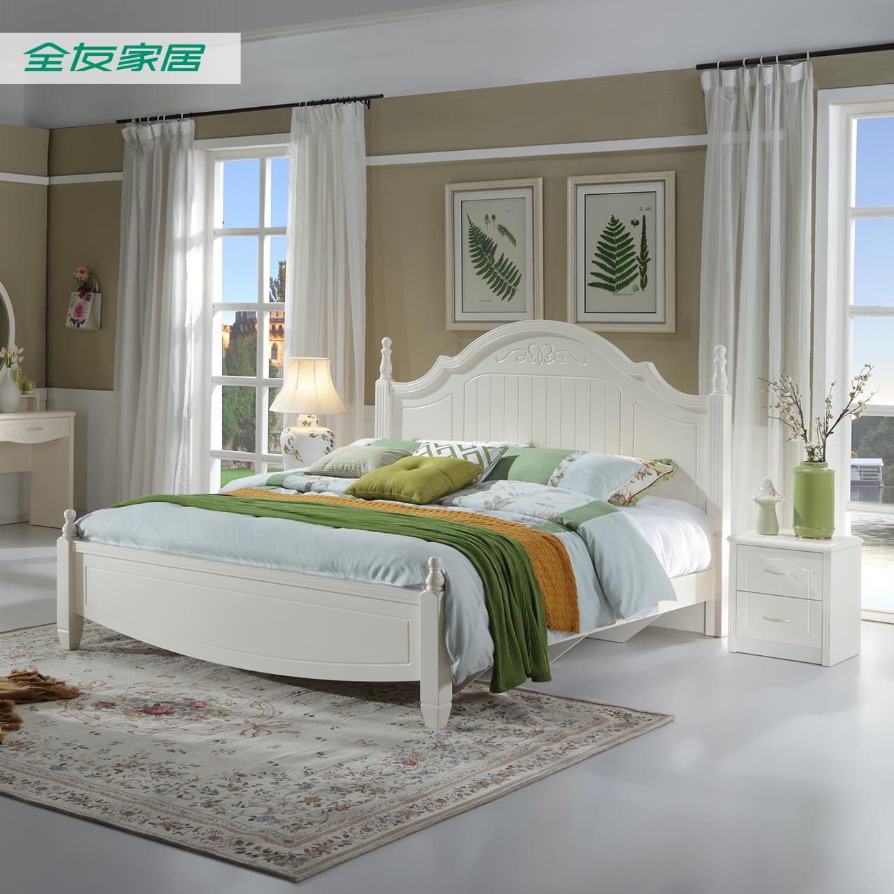 Собирать все друг домой частное современный корейский сельская местность двуспальная кровать пластина кровать 1.5m/1.8m кровать установите 120613