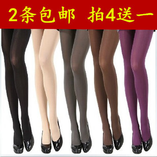 In the autumn and winter thickening plus velvet flesh colored pantyhose black skin is not through the meat brushed pantyhose bottoming female stockings
