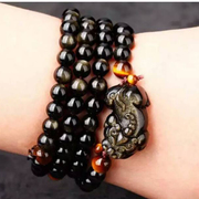 Medallion Obsidian bracelet Jin Yaoshi brave bracelets 108 couple bead ring Jewelry Gifts for men and women