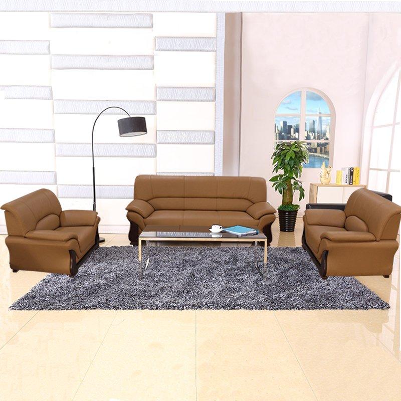 Депозит помощь зал современный простой натуральная кожа офис диван офис комната подключать подожди контакт разговор диван сочетание мода лицевая коровья кожа