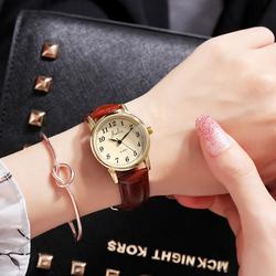 韩版简约数字皮带手表
