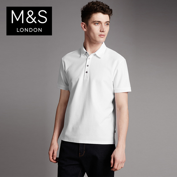 Clearance M & amp; S / M Marks Supima cotton quality fit models POLO shirt T284780A AT
