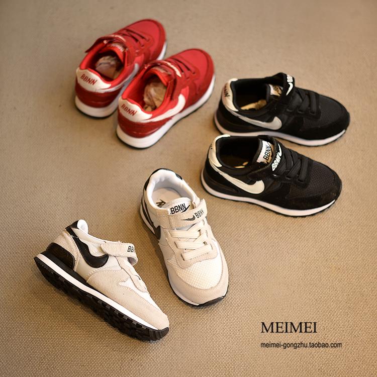 Весна новых детей кроссовки кожа дышащая сетка мальчиков Повседневная обувь девочек обувь детей