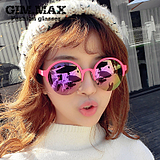 310ba449fe USD  17.17  GIMMAX bright reflective sunglasses female 2015 new large  circular metal frame glasses personalized sunglasses male tide