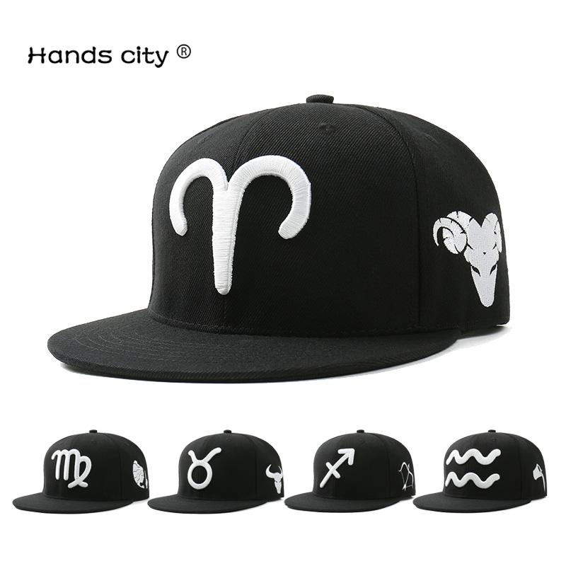 12十二星座帽子 男女百搭夏天棒球帽平沿帽嘻哈帽滑板街舞帽