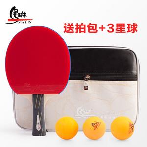 馬琳6星乒乓球拍正品成品拍初學者進攻型直拍橫拍雙面反膠ppq單拍