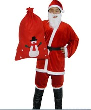 Christmas Men of high-grade pleuche Santa Claus Santa suit 5 times
