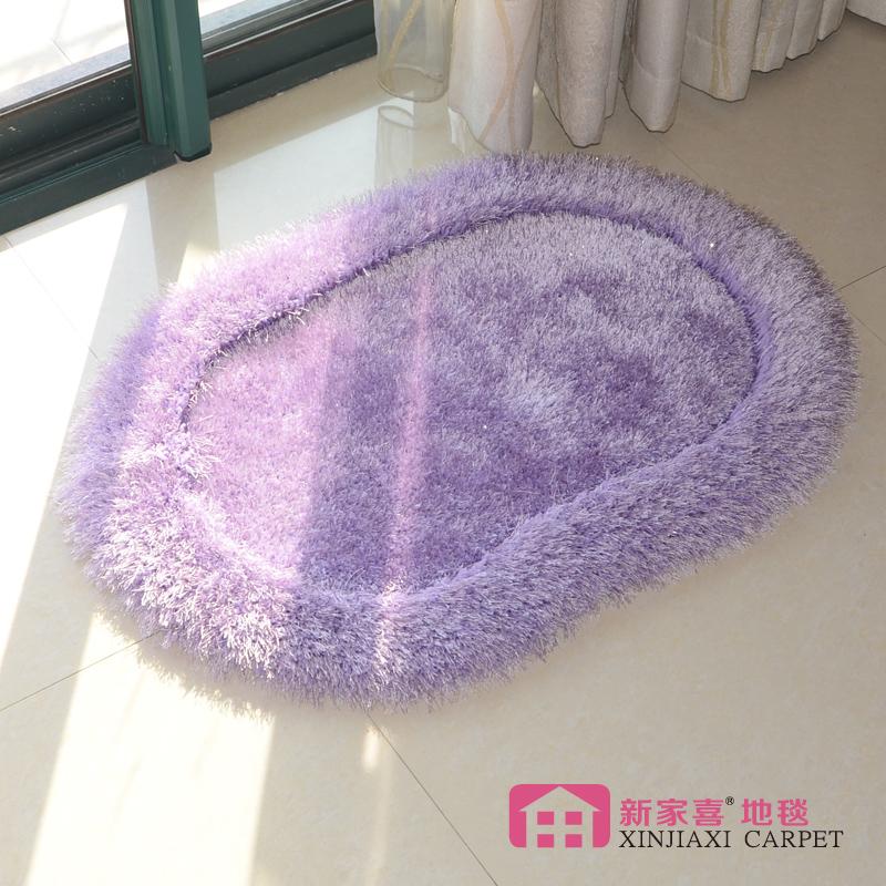 清理库存弹力丝卧室地毯床前床边毯加厚加密客厅房间地进门毯紫色,可领取3元天猫优惠券