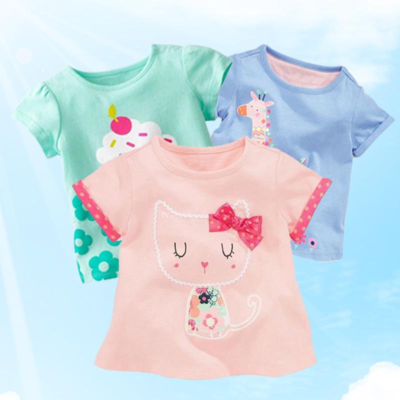 2018夏装新款儿童短袖T恤女童宝宝半袖T恤纯棉婴儿短袖上衣童装