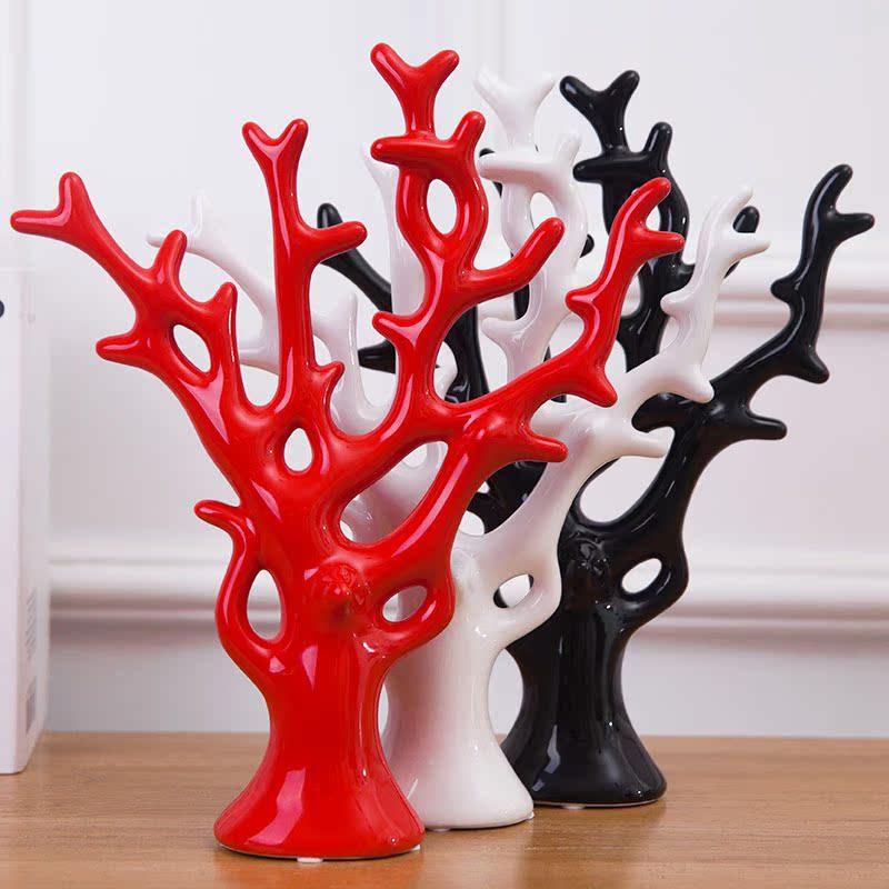 家居飾品 擺設陶瓷工藝新房裝飾擺件結婚 婚慶 發財樹