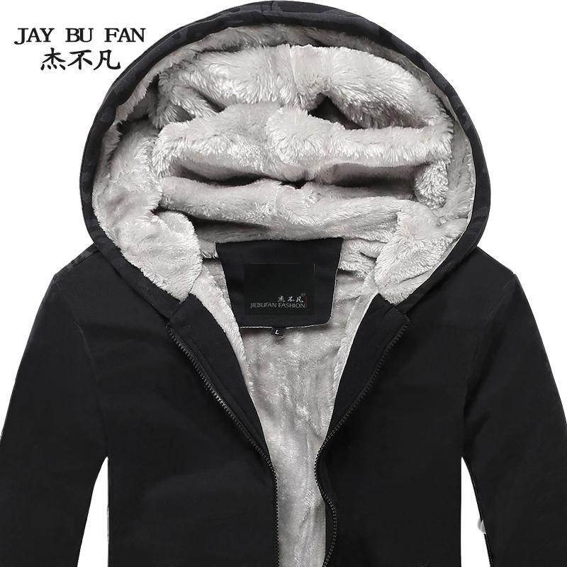 杰不凡秋冬装男装 冬季韩版潮男士加绒休闲连帽加厚卫衣男外套