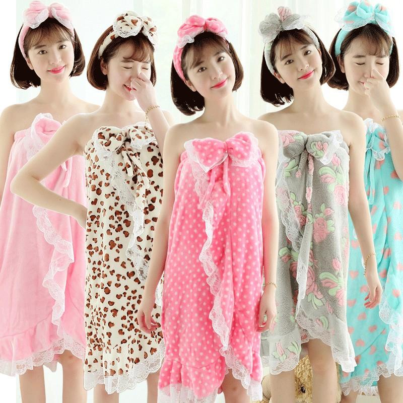 Летом и осенью дамы халат полотенце сексуальный кружевной ночная рубашка мультфильм милый трубки Топ женщин фланелевой Халат одеяние