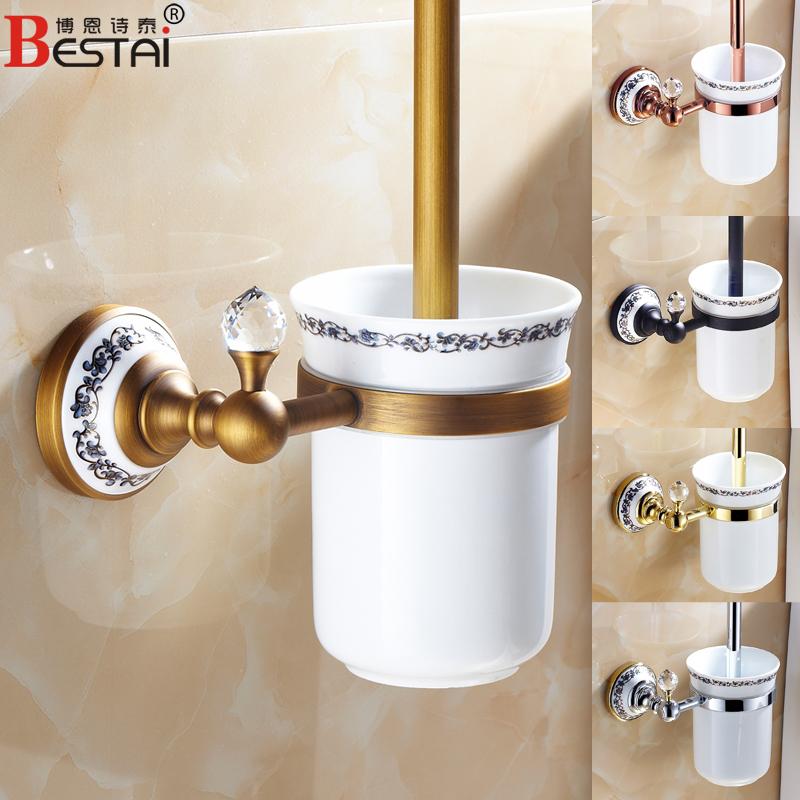 Европейский античное золото розовое золото, медь черный Туалет щетки установить туалет туалет щетки Обладатель Кубка