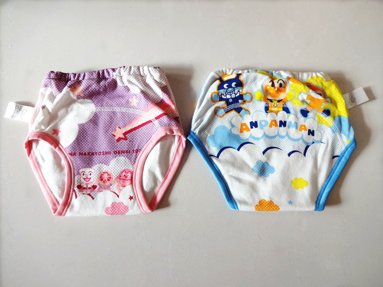 Daily delivery surplus baby three layer waterproof study Pants / diaper training underwear without fluorescent agent