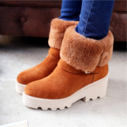 2015 winter season shoes chunky heels short boots Western leather boots snow boots warm and pile high with Martin women''''''''s boots