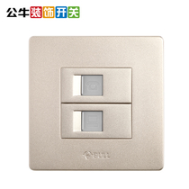 Bull switch Socket computer phone Panel Network phone socket panel cable phone line socket GOLD