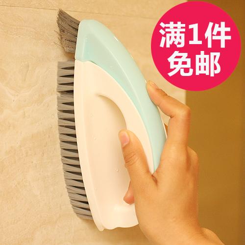 日本KM 浴室瓷砖刷卫生间硬毛刷擦洗地板刷地砖清洁刷子带手柄