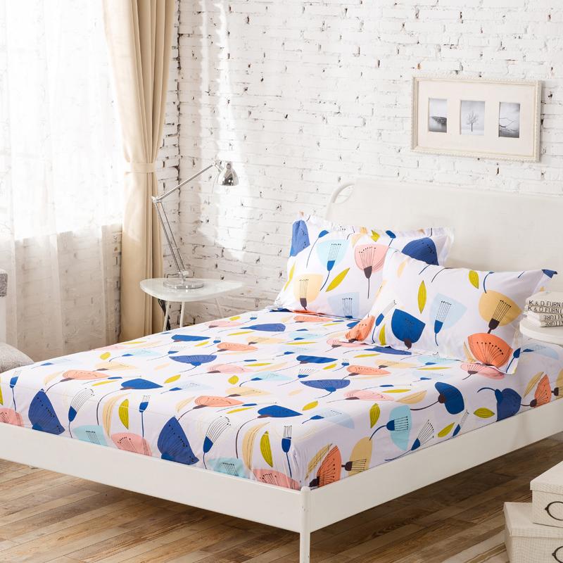 摯緣紡全棉床笠單件純棉卡通床罩1.5m1.8米防滑床單床墊席夢思套