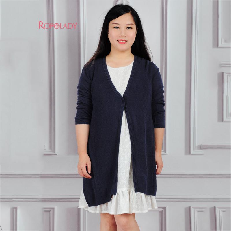 胖太太大码女装16春装新品热销款薄纯色七分袖针织开衫416102510