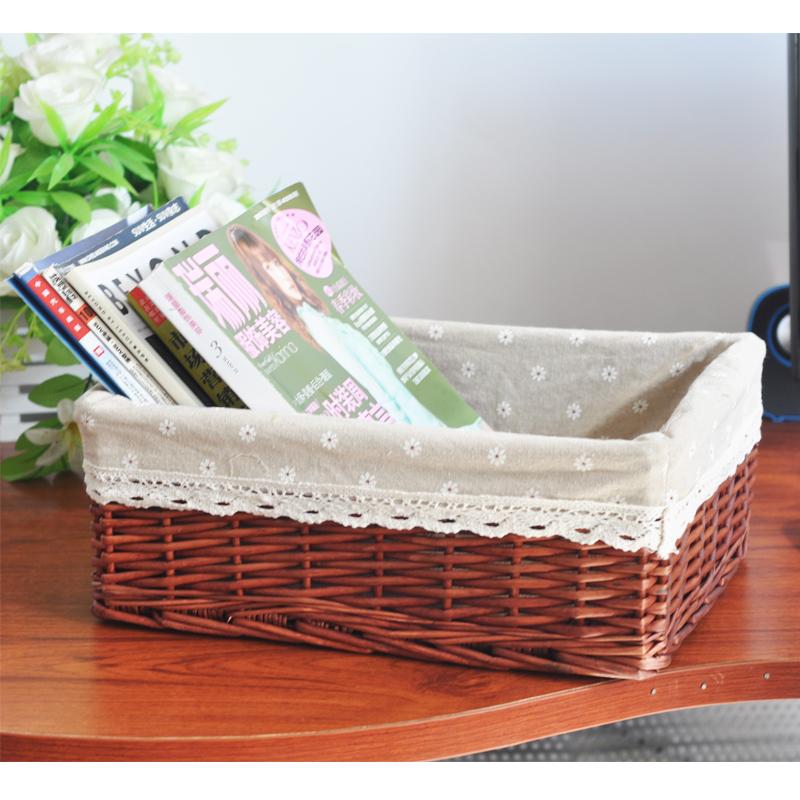 WO белья ящик утилита ящик для хранения, хранения ящик плетеной корзины косметические Обои хранения коробки хранения от IKEA