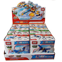 Authentic GuDi nahuy new GUDI 8604-8 eight one trible changers star convoy series of building blocks toys