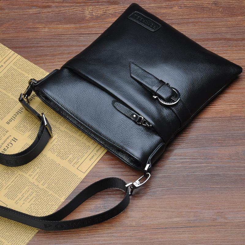 Ватикан-Корейская версия мужской модный человек кожа бизнес случайный рюкзак перекинул заголовка слоя кожи подлинный человек baodan сумка