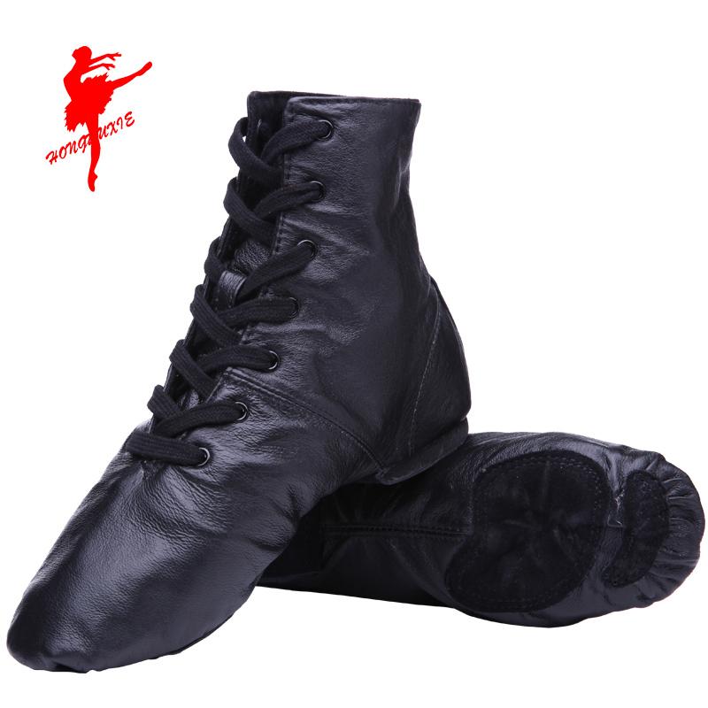 Красный обувь танец обувь кожа сэр ботинок современный сэр обувной гимнастика обувной мягкое дно практика гонг обувной сэр обувь