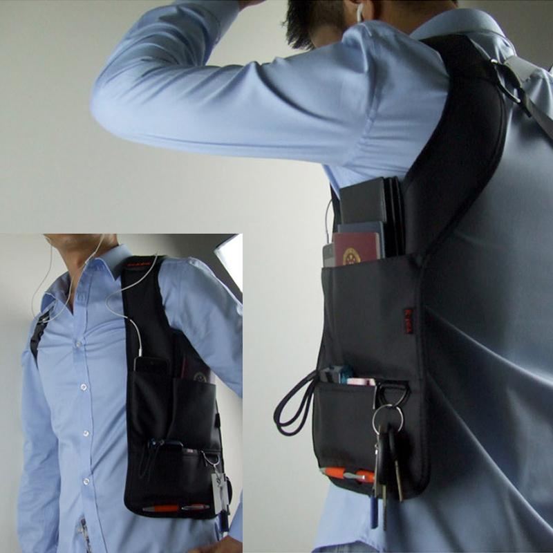 ステルスはわきの下に包んで心地良くて盗難防止の特務のリュックサックの外で運動してiPad携帯電話のデジタルの収納バッグを盗むことを防ぎます。