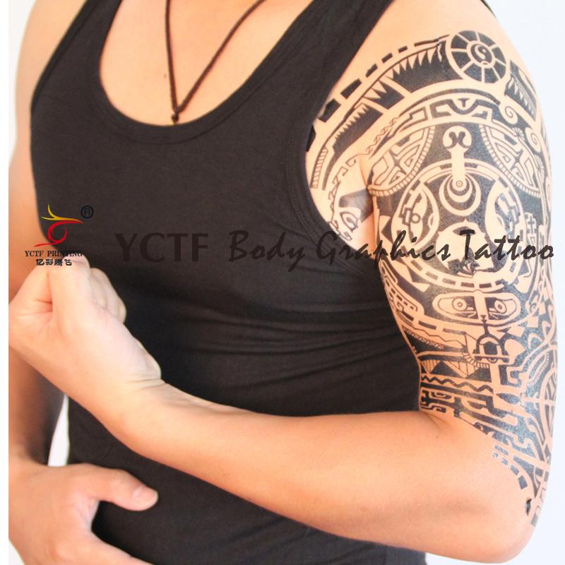 (用7.2元券)亿彩腾飞强森纹身贴 强森同款纹身纸 防水纹身贴纸rock半甲纹身贴