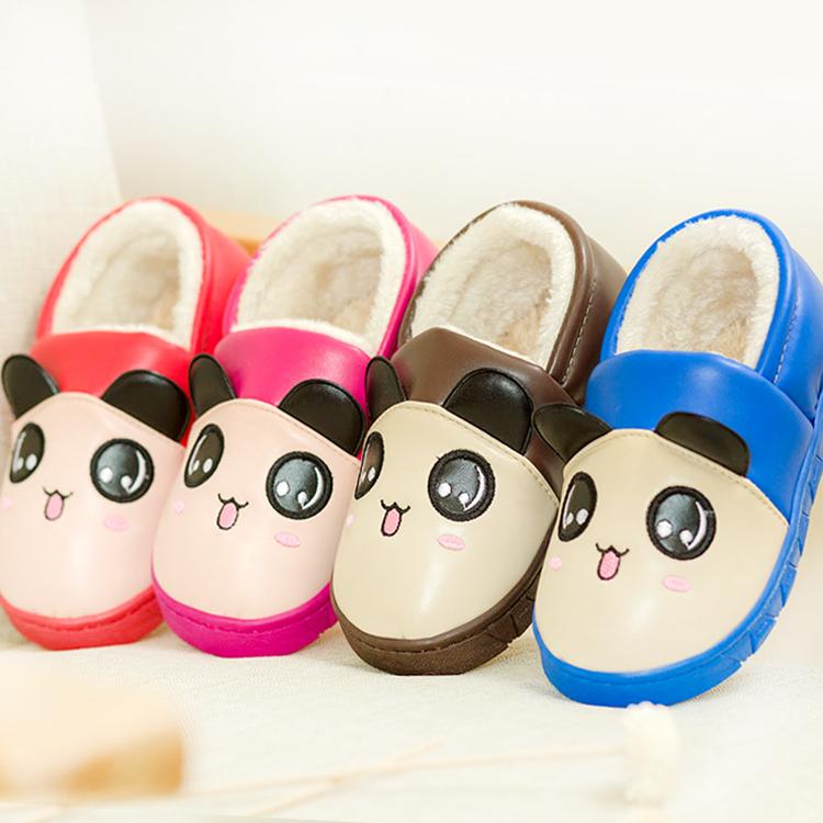 卡通可愛兒童棉拖鞋女包跟 男童 加厚防滑防水居家居寶寶棉鞋