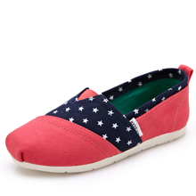 Children's printed canvas shoes 2015 new stars British autumn wind cloth shoes set a foot pedal lazy shoes of the girls