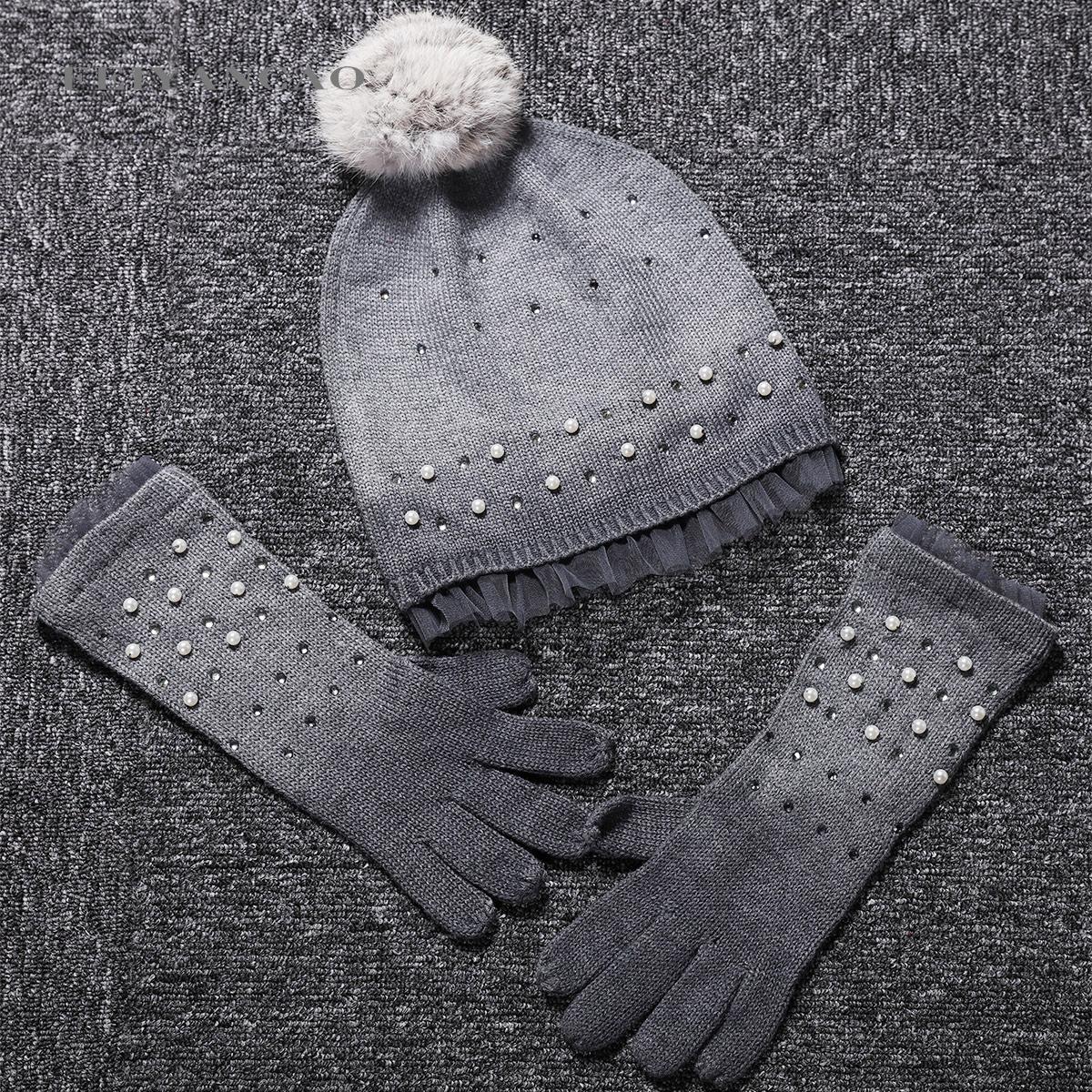 Элегантные дамы осень/зима 15 итальянских большие девочки берет детей шерсти теплую шапку перчатки набор