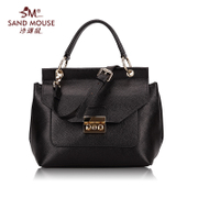 Beach mice 2015 first layer leather ladies handbag new fashion square leather simple Crossbody