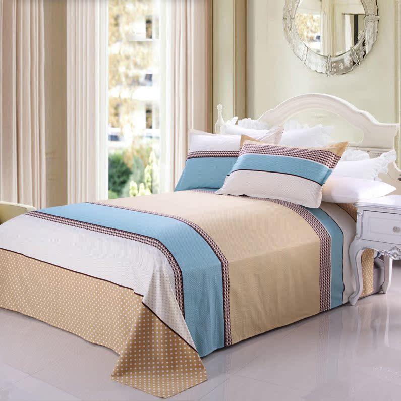 馥家纺 床单单件学生宿舍单人双人1.5米1.8m床斜纹床单被单纯棉