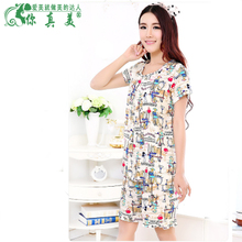 Daily specials printed cotton fabrics of bourette leisurewear summer fall head thin pajamas with outfit air conditioning