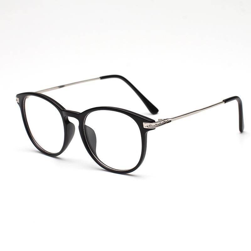超輕複古大框圓形眼鏡框 男女款成品近視眼鏡黑框 配眼鏡架防輻射
