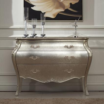 欧式抽屉柜新古典家具金银箔住宅实木定制奢华豪高端 法式餐边柜