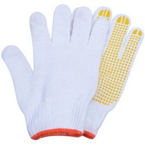 Huafeng giant Arrow 3 double cotton thread glove point plastic gloves anti-skid Gloves Labor Protection Gloves hardware tools