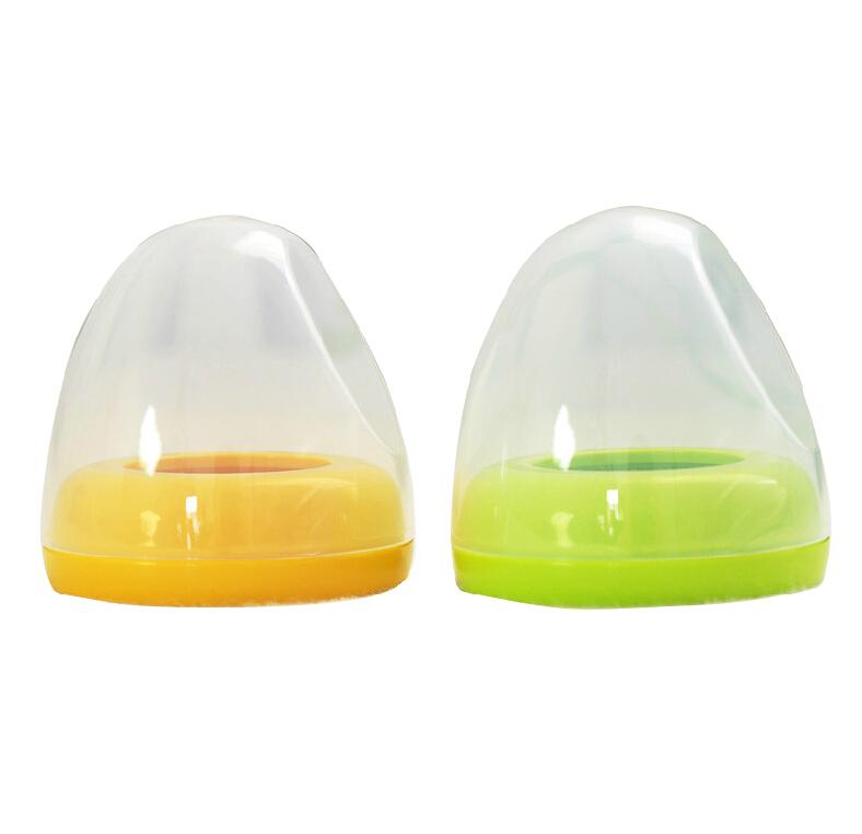 贝亲宽口径奶瓶帽盖组/旋盖+上盖(黄色/绿色) 奶瓶配件BA61/62