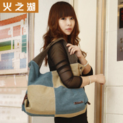 Lake of fire canvas bags-fall 2015 sweet lady new Korean wave package bag shoulder Crossbody bag