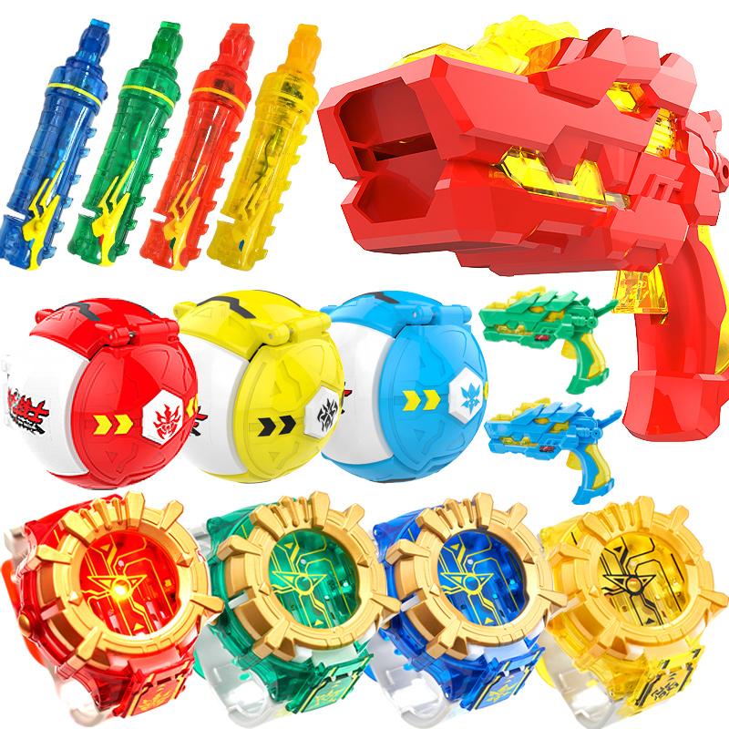 鬥龍戰士5號角玩具雙龍核4變形手表雷古曼爆射龍彈槍全套鬥龍手環