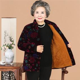 中老年女装妈妈装外套老年人短款